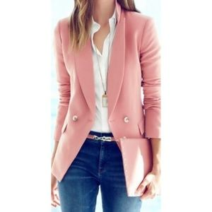 WHBM Dusty Rose Double Breasted Trophy Blazer Sz 4